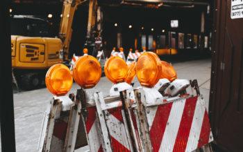 Baustelleneinrichtungsschilder