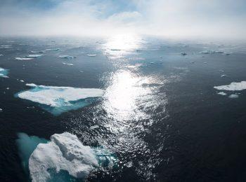 Eisschollen im Meer