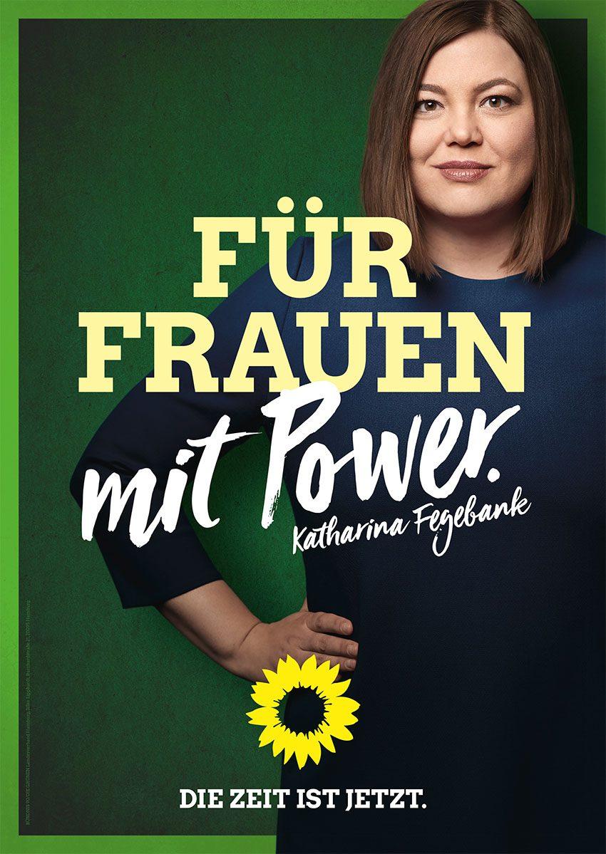 Bild eines Plakates: Für Frauen mit Power